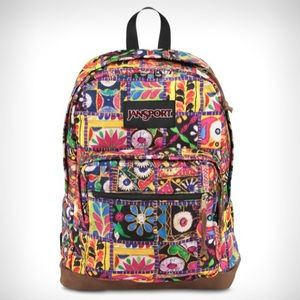 Jansport right pack world multi banjara jewel